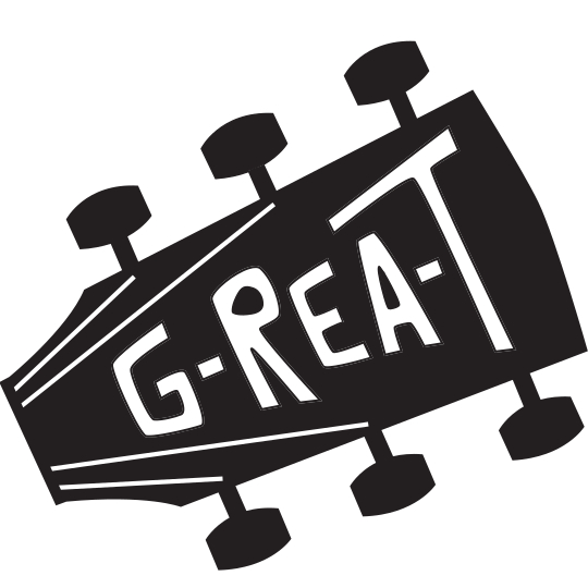 Guitar head with Guitar in Real Time Logo Picture