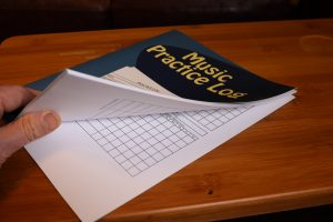 Music Practice Log - valuable aid to track your progress with the Guitar in Real Time Course